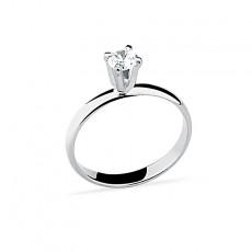 Anel de Prata - Solitário com Pedra Pequena 1376-014 05B-37 Nº24