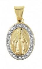 Pingente Folheado a Ouro Nossa Senhora das Graças