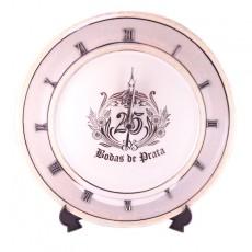 Relógio prato BODAS DE PRATA BARROCO 111502